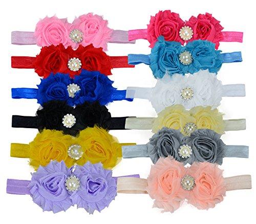 14 stks Baby Meisje Leuke Haar Hoofdbanden Boutique Haar Hoofd Accessoires Alligator Haarspeldjes FJ07 Pack of 12 Pcs/Colors
