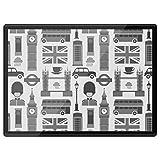 Destination Vinyl Ltd - Mantel individual de plástico (tamaño A3, con iconos de Londres, Inglaterra, turismo, alfombrilla de ratón, lavable, impermeable, #39777