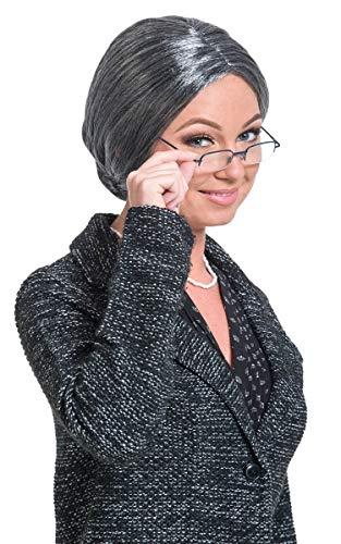 Folat 26835 – Perruque Grand-mère, Taille Unique, Gris