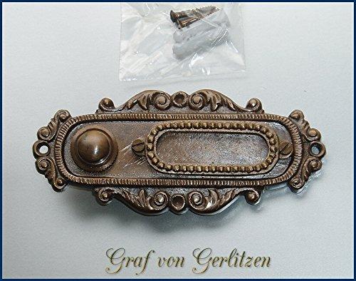 Graf von Gerlitzen Antik Messing Tür Klingel 1 Gründerzeit Türklingel Klingelschild K61A