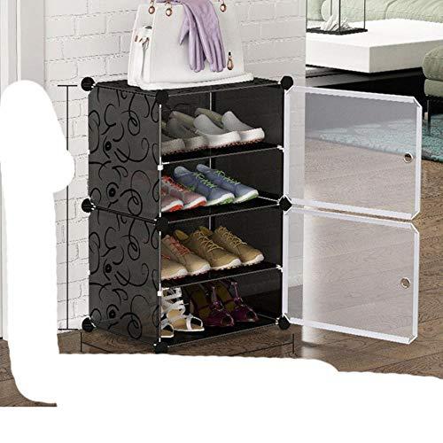 2020 Nuevo zapatero multicapa ahorro de espacio zapatos botas organizador armario DIY montado módulo zapatero re moderno-6