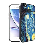 Compatible with iPhone 6s Plus/6 Plus Case Famous Paiting Van Gogh's Starry Night Pattern Design, [Shock-Absorbing Corners] [Scratch Resistant] [Lens Protective] Hard PC + TPU Frame Slim Phone Case