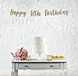 Happy 18th Birthday Banner, 18th Birthday Party, Eighteen Years Old Banner, 18th Birthday Banner, Surprise 18th Birthday, Cheers to 18 Years, Wall Decoration
