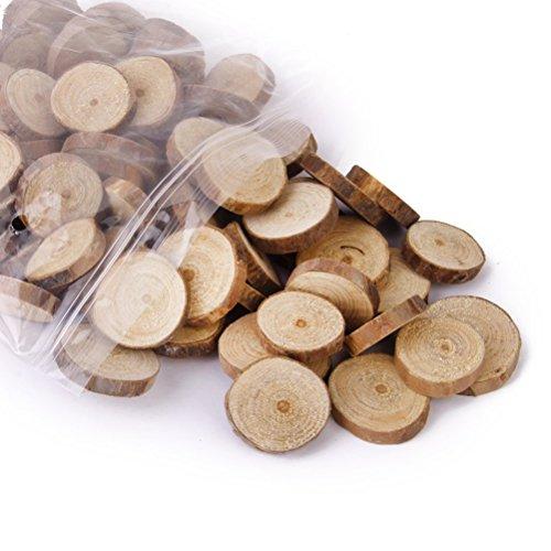 NUOLUX 1,5-3CM legno Log fette dischi per DIY mestieri nozze centrotavola 100pcs