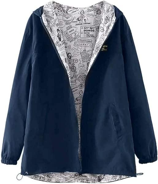 Women Jackets Coat Solid Long Sleeve Hoodies Oversize Zipper Jacket Windbreaker Overcoat By Nevera
