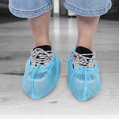 FILFEEL 𝐑𝐞𝐠𝐚𝐥𝐨 𝐝𝐢 𝐍𝐚𝐭𝐚𝐥𝐞 Copriscarpe da casa Azzurro, Copriscarpe Antipolvere in Tessuto Non Tessuto Elasticizzato, per Tutte Le Scarpe da Uomo e da Donna(Light Blue)