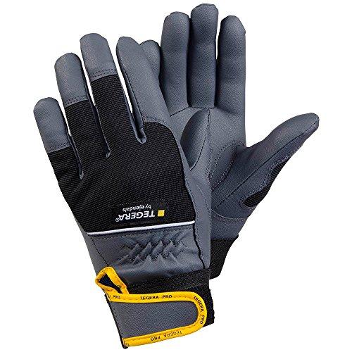 'ejendals Guanto'Tegera 9105in cuoio sintetico misura 10, 1pezzi, nero/grigio/giallo, 9105–10