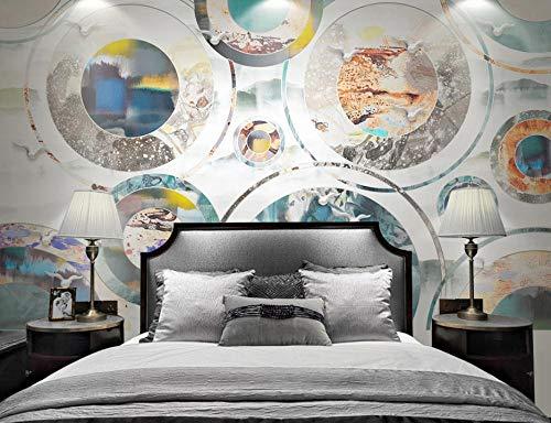 SHANGZHIQIN Custom 3D Mural Wallpaper Canvas Bedroom, Geometric Modern Minimalism