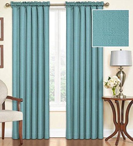 "Ellery Homestyles LLC Eclipse Samara Blackout Energy-Efficient 42""x 63"" Curtain Panel, Set of 2 - Sea Glass #35587102"