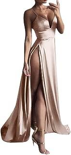 VonVonCo High-Split Dress Maxi Dress Sexy Women Casual Wild Wedding Praty Prom Solid Evening Party Clubwear Long Dresses
