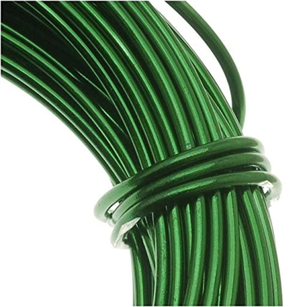 Beadsmith WCR-4010 11.8m Aluminum Craft Wire, Kelly Green, 18 gallon/39'