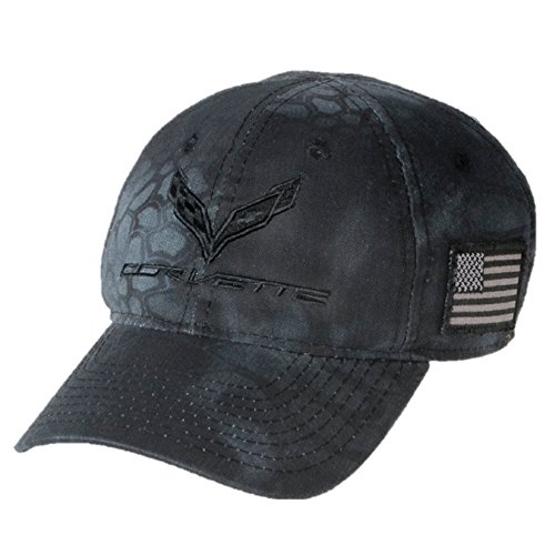 C7 Corvette Camo Hat with USA Flag - from The American Legacy Collection