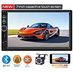 [ Multifunction ] : Supports BT and hands-free calling, FM Radio, USB, TF Card (up to 32 GB), AUX IN, music player, video player, steering wheel control and back-up camera. [ 2019 Newest Touch Screen ] : Digital capacitive touch screen, sensitive and...