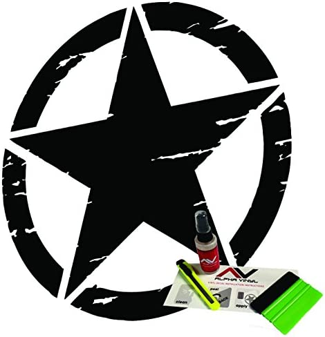 Distressed Oscar Mike New color Freedom Edition fits Hood Ranking TOP19 Wrang Decal Star