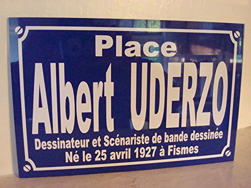 ALBERT UDERZO BD plaque de rue création collector edition limitée cadeau original