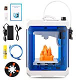 HopeWant Desktop 3D Printer Steam for Design Mini 3D Printer Kit with 250g PLA Filament TF Card High Accuracy 3D Print Education Windows/MAC/Linux Supported, Blue, 10.5 x 7.6 x 7.5