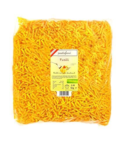 pastafani Fusilli 5kg - FAMILY- UND GASTRO-PACK - Regionale Spiralen-Nudeln aus natürlichen, qualitativ hochwertigen Zutaten ohne Aroma- oder Zusatzstoffe - Perfekte Pasta für Großverbraucher!