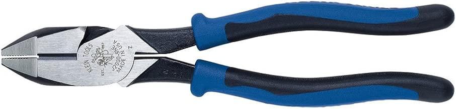 Side Cutter Linemans Pliers, High Leverage 9-Inch Pliers Cut ACSR, Screws, Nails, Wire Klein Tools J2000-9NE