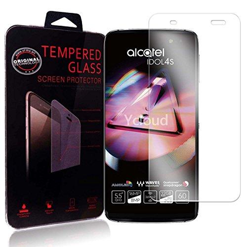 Ycloud Panzerglas Folie Schutzfolie Bildschirmschutzfolie für Alcatel Idol 4S (5.5 Zoll) screen protector mit Festigkeitgrad 9H, 0,26mm Ultra-Dünn, Abger&ete Kanten