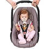YEAHIBABY Baby Sicherheit Sitz Gurt Sicherheit Kinderwagen Gurte Auto Brust Clip Sicher Schnalle für Baby mit Plüsch Löwe Cover