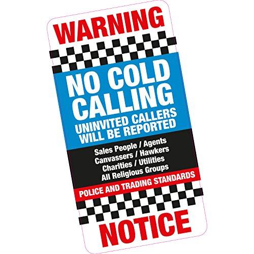 Geen koud bellen ongenode bellers voordeur/venster Sticker Deterrent Ouderen