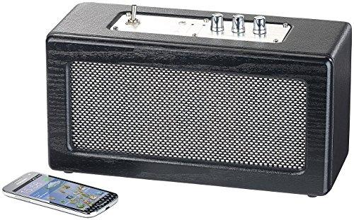 auvisio Speaker Bluetooth Mobiler Retro Lautsprecher mit Bluetooth 41 und AUX Eingang 40 Watt Lautsprecher mit AUX Anschluss