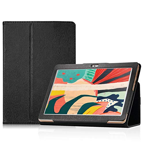 Transwon Schutzhülle für Dragon Touch Notepad 102, Pritom Tronpad L10 Tablet, YESTEL T5 Tablet 10.1, WINNOVO P20 Tablet, AOYODKG A39, Teclast P20HD, Schwarz