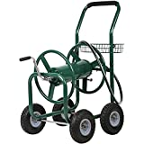 Best Garden Hose Carts - PayLessHere Reel Garden Cart with Heavy Duty 300FT Review
