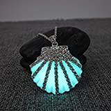 Ariel Seashell Necklace, Glow in the Dark Necklace, Little Mermaid Necklace, Glowing Seashell, Mermaid Seashell, Ariel Seashell, Ariel Cosplay, Ariel Voice Necklace