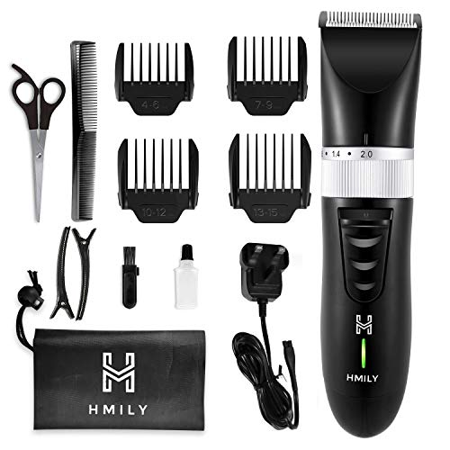 Hair Clippers for Men, Hmily Professional Cordless Hair Clippers Hair Trimmer for Man Rechargeble Haircut Kit with Ceramic Blade,Quick Charge Mens Hair Clippers for Family Use