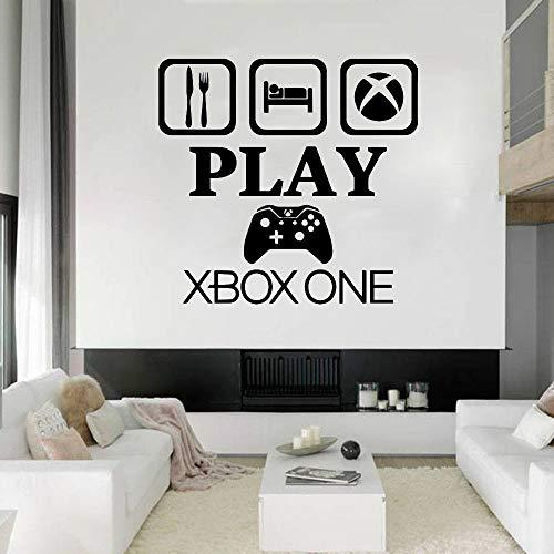 HFDHFH Gamer Wall Decal Controller Video Juego calcomanía de Pared para niños Dormitorio Personalizado Dormitorio Sala de Juegos Vinilo Arte de la Pared decoración de la casa