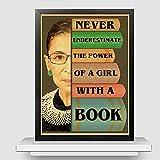 Wuqianjin Ruth Bader Ginsburg Affiches Imprime Les Femmes appartiennent à Tous Les lieux décisions Prises Citations Affiche rétro décoration de la Maison Peinture sur Toile (50X70Cm) Pas de Cadre