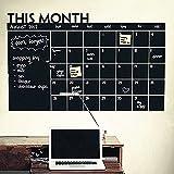DIY Monat Plan Kalender Tafel Abnehmbarer Wandtattoo Drawing schwarz Board Learning Wand Aufkleber Monatsplaner blanko wiederverwendbar Office Supplies schwarz