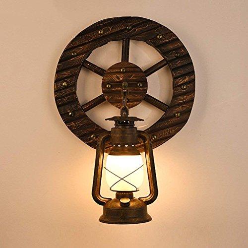 DSJ paard lamp wandlamp gang gang wandlamp creatieve retro kerosine lamp American Woody slaapkamer lamp