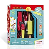 Baketivity 31-Piece Kids Baking Set with 12 Free Recipe Cards - Complete Baking Kit with Real Baking Tools for Kids Ages 6 and Up - Ultimate Baking Gift Set for Girls, Boys, Toddlers, Junior Chefs