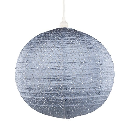 Allsop Home & Garden 32024 Soji Stella Nova Chevron Metallic Blue Indoor/Outdoor Tyvek Pendant Lamp (120V)
