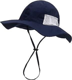 قبعة شمس للأطفال، قبعة قابلة للتعديل للحماية من أشعة الشمس للأطفال، قبعة شاطئ واسعة الحواف للرضع والأولاد والبنات (0-6 سنوات)