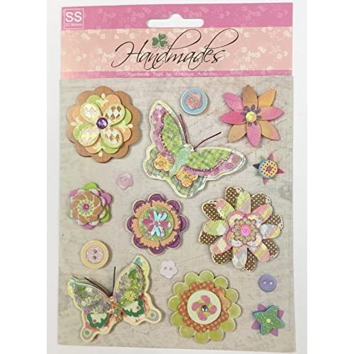 PACK 2 IN THE GARDEN EMBELLISHMENT TOPPERS FOR CARDS AND CRAFTS SPECIAL DAD