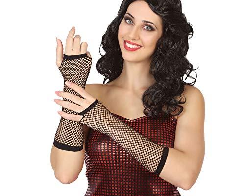 Atosa-34508 Atosa-34508-Accesorio-Guantes Sin Dedos Rejilla Negro, color, Talla única (34508)