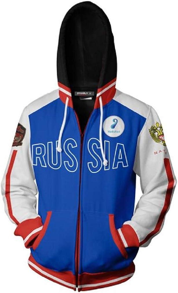 PONGONE Unisex Tulsa Mall Under blast sales Zip Up School Halloween Jacket Cosplay Cas Hoodie