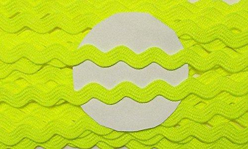 Großhandel für Schneiderbedarf 5 m Zackenlitze neon gelb 8mm 0,99 €/m