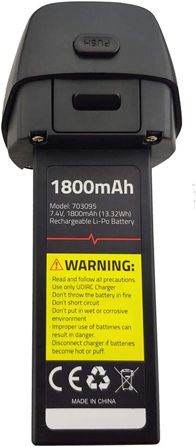 Fytoo 7.4V 1800mah Lithium Battery for UDIRC U37 D60 Aerial brushless Four-axis Aircraft Spare Parts Remote Control Helicopter Battery (1PCS)