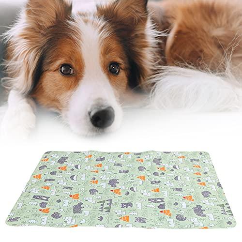 Chanme Almohadilla de enfriamiento para Perros, Almohadilla de enfriamiento para Mascotas Respetuoso del Medio Ambiente y fácil de Limpiar para jardín para el hogar(M:50 * 60cm)