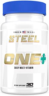 Steel Supplements ONE+ | Once Daily Multivitamin and Mineral Supplement for Immunity and Vitality | with Vitamins A B C D ...