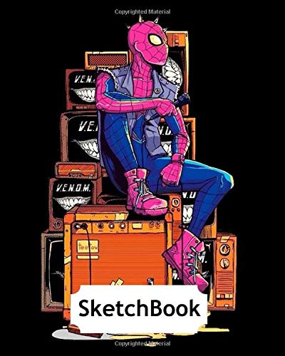 Sketchbook: Spiderman #18 Cartoon Movie 120 Pages, 8x10 Blank Paper for Drawing, Doodling or Sketching