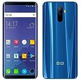 ELEPHONE U 4G Téléphone Portable débloqué(Ultra-Mince)- Octa-Core 6 Go de RAM + 128 Go de ROM, Plein écean 5,99' FHD+ Incervé(AMOLED) Android 7.1 Smartphone, Double Caméras Arrière 13MP+13MP Bleu