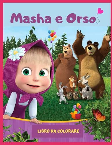 Libro da colorare Masha e orso: Libro da colorare con 50 immagini, personaggi fantastici, libro per bambini da 2 a 6 anni, libro di attività prescolastico.