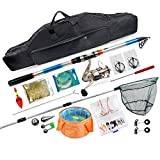 Zyu Fishing Tackle Kit with Spinning Rod Reel Combos Line Lures Hooks...
