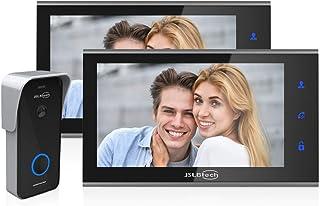 """JSLBtech Visiophone Sonnette Vidéo Caméra Système,7"""" IPS 1080P Interphone avec Version Nuit IR,Déverrouillage à Distance/E..."""
