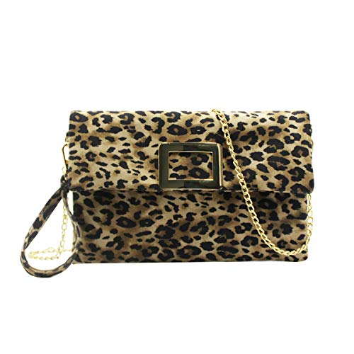 ❤Material: High quality PU leather material with fabric lining, stylish leopard, smooth to the touch and easy to clean ,durable and waterproof. ❤Multifunction:Come with a detachable metal chain strap, great to be used as a handbag, tote purse, clutch...